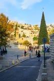 Kerstmis in het Vierkant van Mary goed, Nazareth Stock Foto's