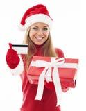Kerstmis het winkelen stock afbeeldingen