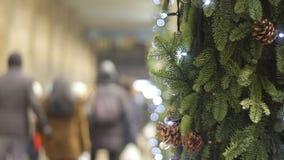Kerstmis het winkelen stock footage