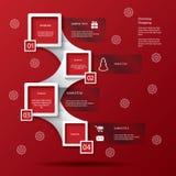 Kerstmis het winkelen infographics Royalty-vrije Stock Fotografie