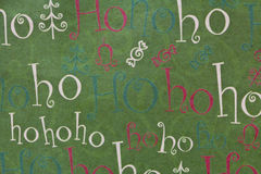 Kerstmis Ho Ho Ho Background Horizontal Royalty-vrije Stock Foto's