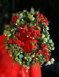 Kerstmis Holly Wreath Royalty-vrije Stock Fotografie