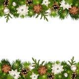 Kerstmis horizontale naadloze achtergrond met spartakken en kegels Vector eps-10 Royalty-vrije Stock Fotografie
