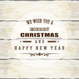 Kerstmis houten achtergrond stock illustratie