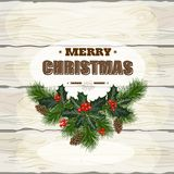 Kerstmis houten achtergrond royalty-vrije illustratie