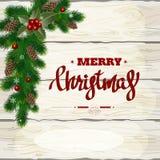 Kerstmis houten achtergrond vector illustratie