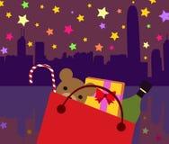 Kerstmis Huidige Zak Royalty-vrije Stock Afbeeldingen