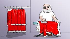 Kerstmis-ijzer-Santa Royalty-vrije Stock Foto