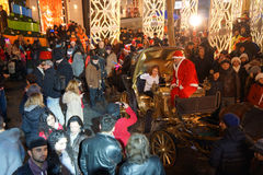 Kerstmis in Istanboel, Turkije stock foto