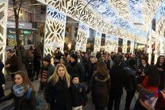 Kerstmis in Istanboel, Turkije stock afbeelding