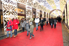 Kerstmis in Istanboel, Turkije royalty-vrije stock afbeelding