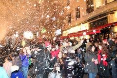 Kerstmis in Istanboel, Turkije stock foto's