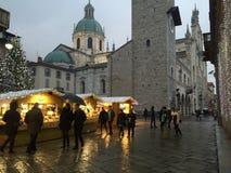 Kerstmis in Italië, Como Royalty-vrije Stock Foto