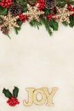 Kerstmis Joy Border Stock Foto's