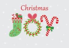Kerstmis Joy Card royalty-vrije stock fotografie
