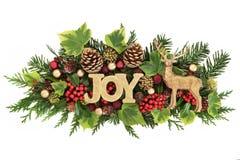Kerstmis Joy Decoration Stock Afbeeldingen