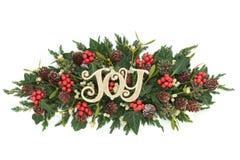 Kerstmis Joy Decoration Stock Foto
