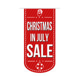Kerstmis in juli-het ontwerp van de verkoopbanner Royalty-vrije Stock Foto's