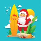 Kerstmis in juli-ontwerp met 3d concept vector illustratie