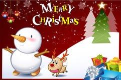 Kerstmis kaart-06 Royalty-vrije Illustratie