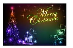 Kerstmis kaart-08 Royalty-vrije Stock Foto