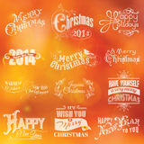 Kerstmis Kalligrafische Kaart Royalty-vrije Stock Foto