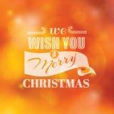 Kerstmis Kalligrafische Kaart Stock Afbeeldingen