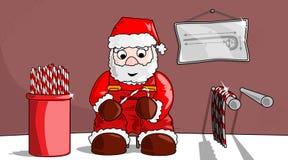 Kerstmis -Kerstmis-candysticks Royalty-vrije Stock Afbeeldingen