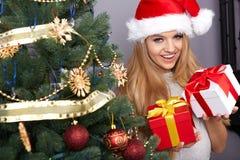 Kerstmis, Kerstmis, de winter, gelukconcept Royalty-vrije Stock Afbeelding