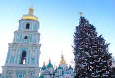 Kerstmis in Kiev, de Oekraïne Stock Foto