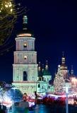 Kerstmis in Kiev, de Oekraïne Royalty-vrije Stock Fotografie