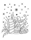 Kerstmis kleurende pagina royalty-vrije illustratie