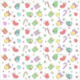 Kerstmis kleurrijk naadloos patroon royalty-vrije illustratie