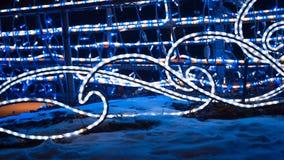 Kerstmis Kleurrijke Lichten Feestelijke verlichting stock foto's