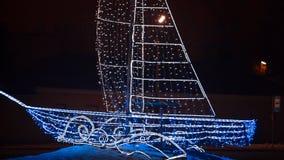 Kerstmis Kleurrijke Lichten Feestelijke verlichting stock afbeeldingen