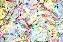 Kerstmis kleurrijke slinger Royalty-vrije Stock Foto