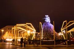 Kerstmis in Kyiv Stock Afbeelding