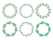 Kerstmis Laurel Wreaths stock afbeelding