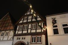 Kerstmis in Lemgo, Duitsland royalty-vrije stock afbeelding