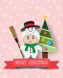 Kerstmis leuke jonge geitjes Stock Afbeeldingen