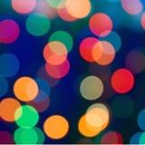 Kerstmis levendige abstracte achtergrond Heldere vlekken van Kerstmislichten Bokeh stock afbeelding