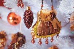 Kerstmis licht binnenland met handtas Royalty-vrije Stock Foto's
