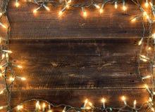 Kerstmis lichte achtergrond stock afbeeldingen