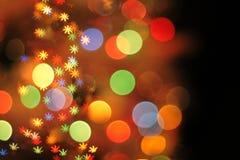 Kerstmis lichte achtergrond Stock Fotografie