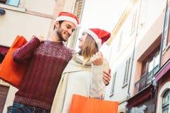 Kerstmis in liefde stock fotografie