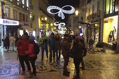 Kerstmis in Lissabon Royalty-vrije Stock Foto's