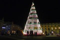 Kerstmis in Lissabon Stock Afbeeldingen