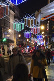 Kerstmis in Lissabon Portugal Stock Afbeeldingen