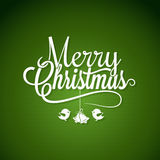 Kerstmis Logo Lettering On Green Background Stock Foto's