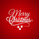 Kerstmis Logo Lettering On Red Background Stock Fotografie